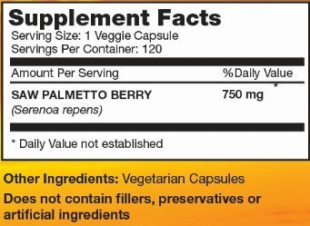 Saw Palmetto Berries supplement facts