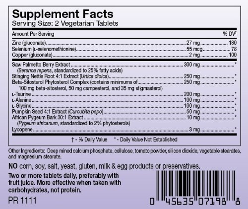 Prost Tech supplement facts