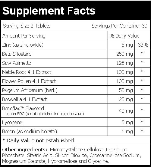 Prost-10 supplement facts