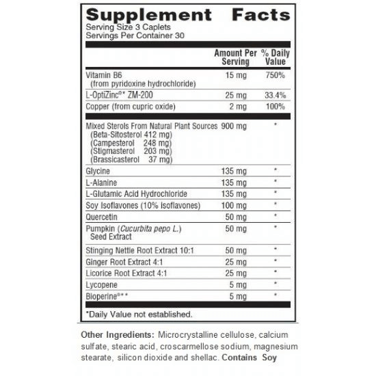 Prosterol supplement facts