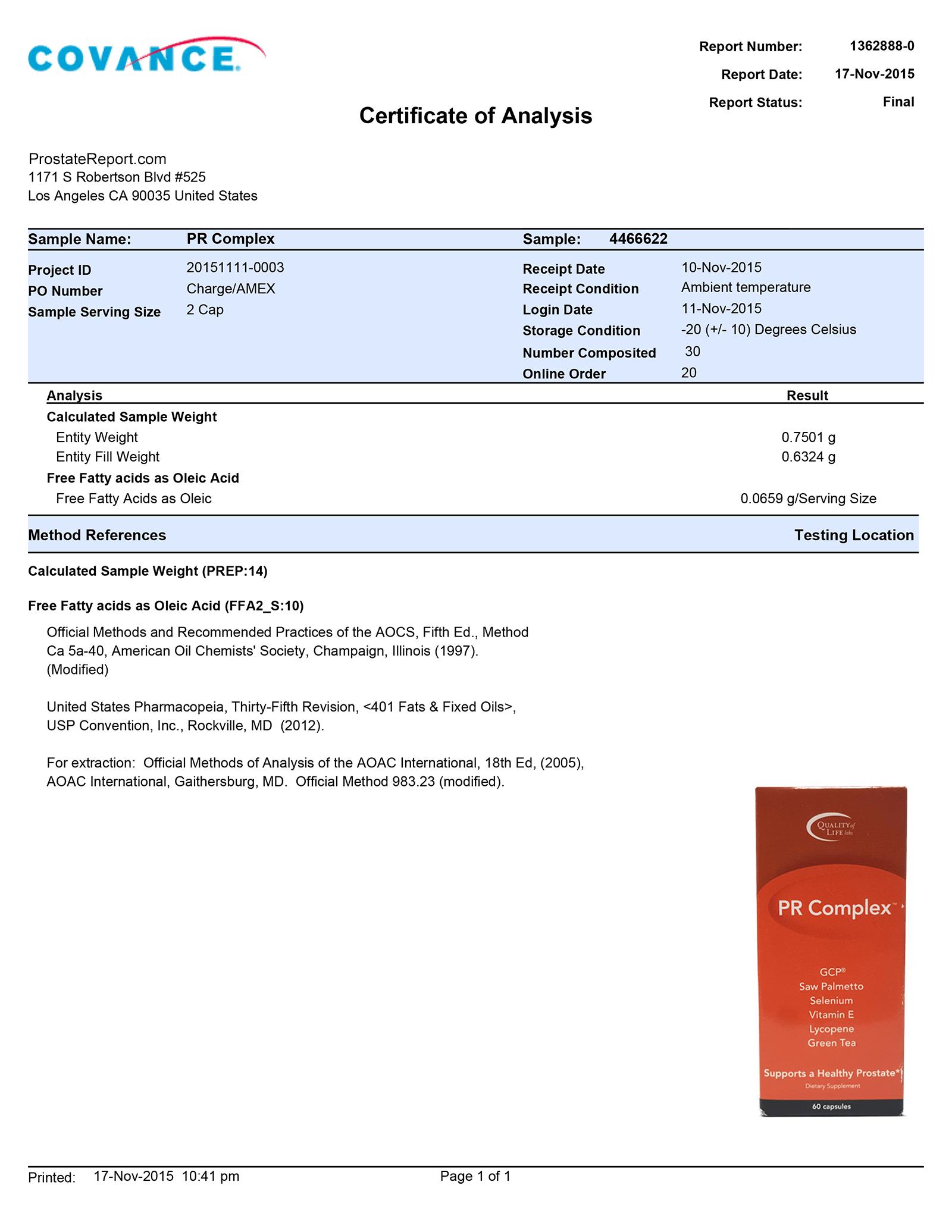 PR Complex lab report