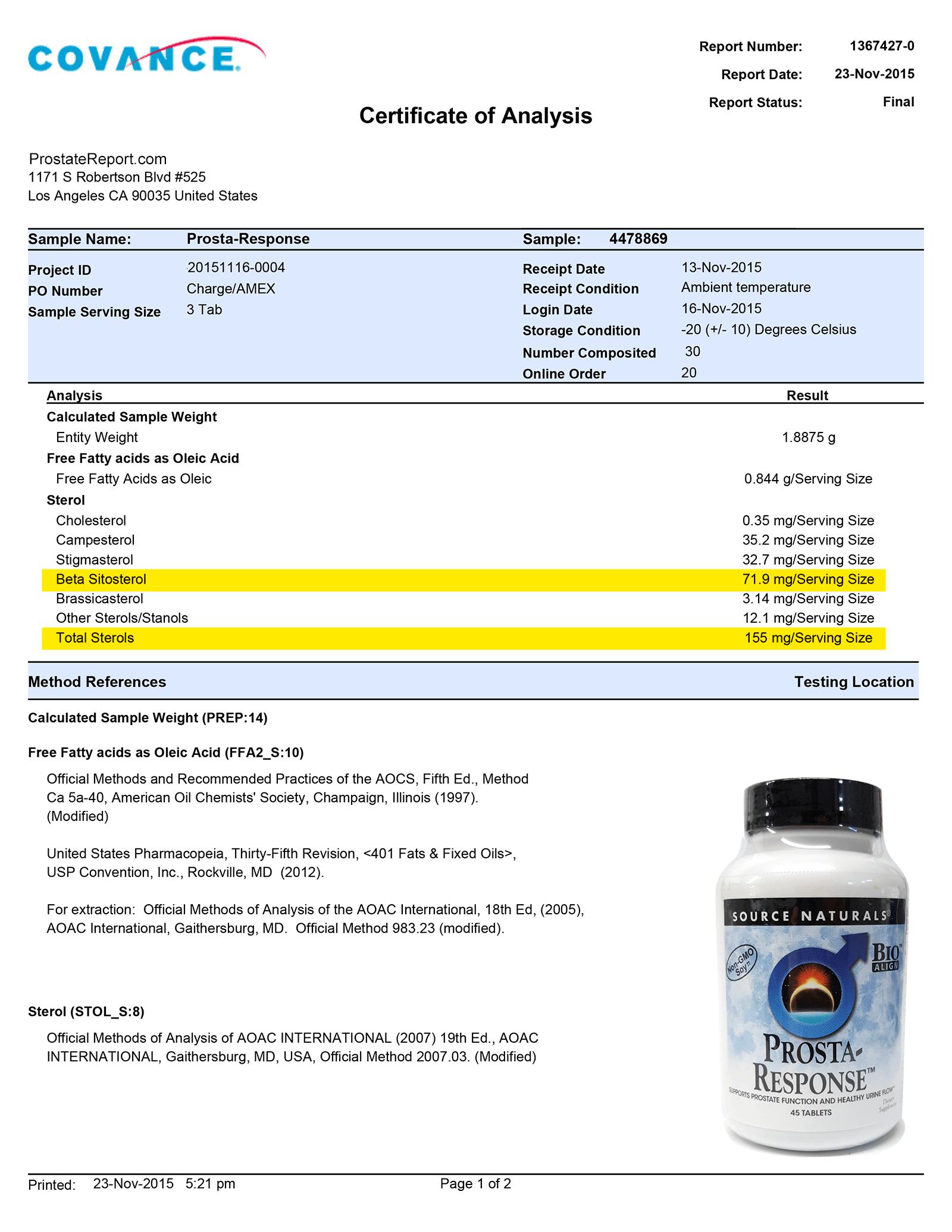 Prosta Response lab report