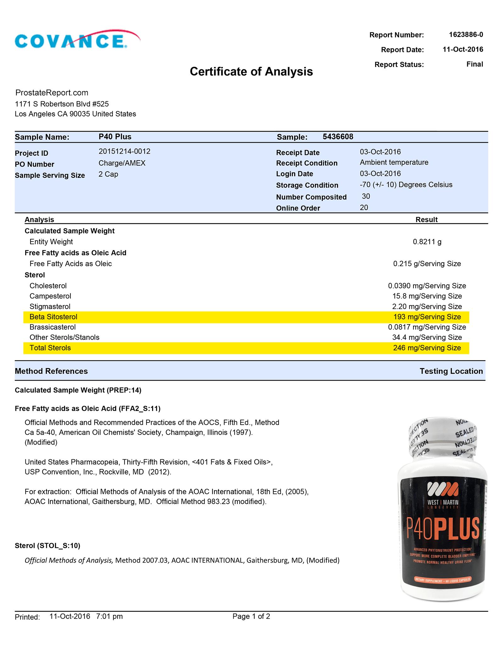 P40 Plus lab report