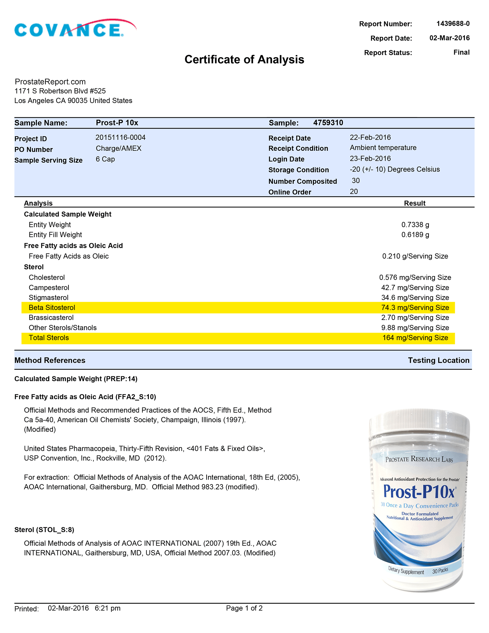 Prost P 10x lab report