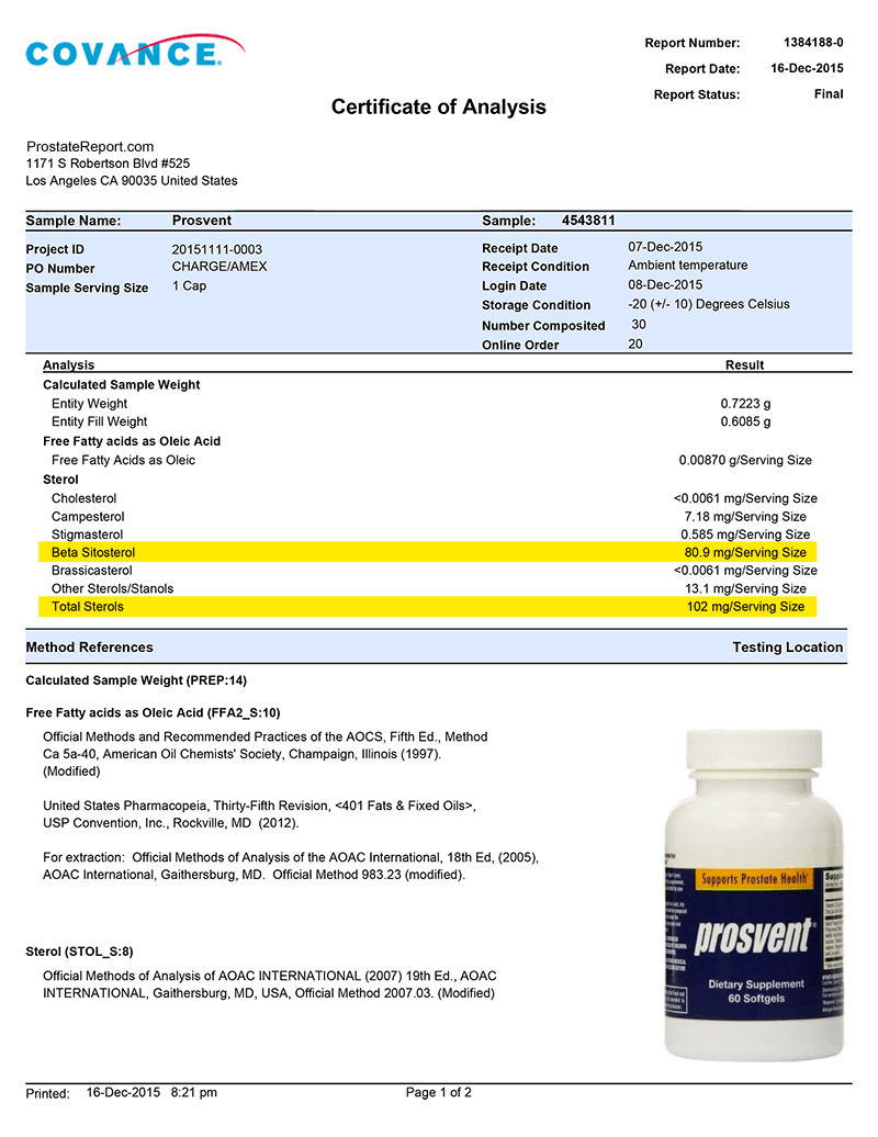 Prosvent lab report